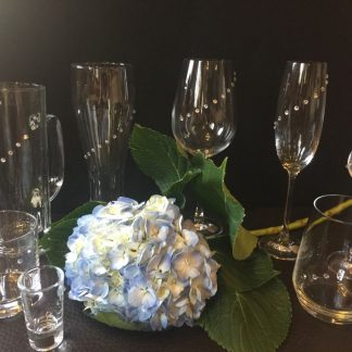 Cristal glasses with real Swarovski stones